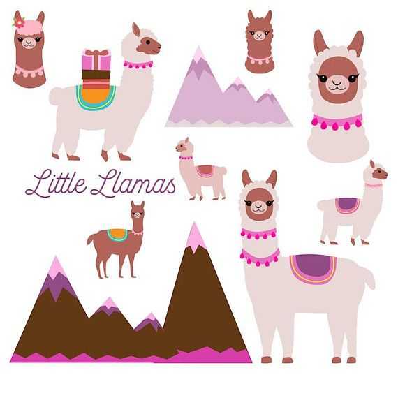 llama clipart cute llamas clip art burro birthday card alpaca rh pinterest co uk llama clip art free llama clipart free