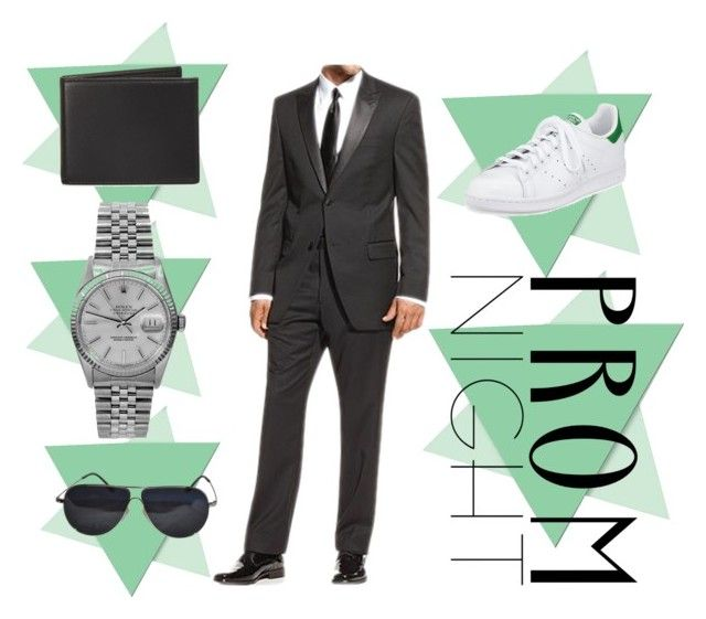 """""""Prom Night"""" by makayla-nightwood ❤ liked on Polyvore featuring PTM Images, The Men's Store, Rolex, BMW, adidas and PROMNIGHT"""