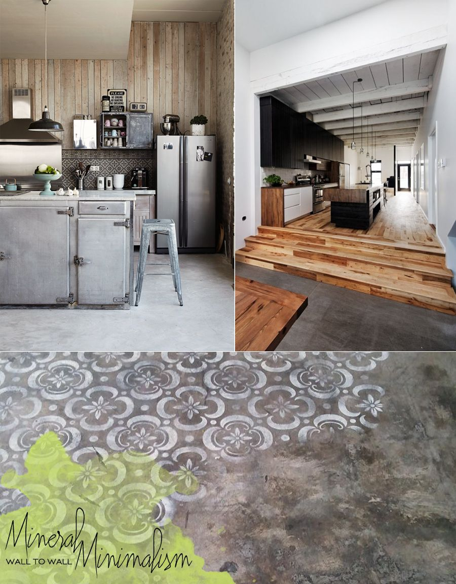 Cement Kitchen And Dining Room Floor Ideas