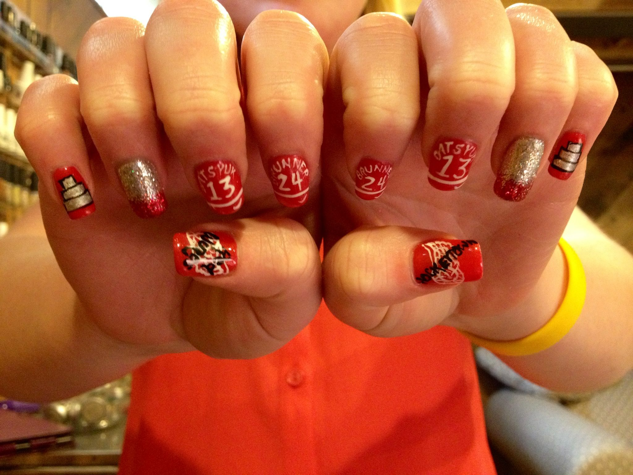 Detroit red wings nails nails media pinterest spt kynnet detroit red wings nails prinsesfo Choice Image