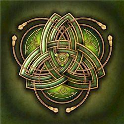 Green Celtic Triquetra