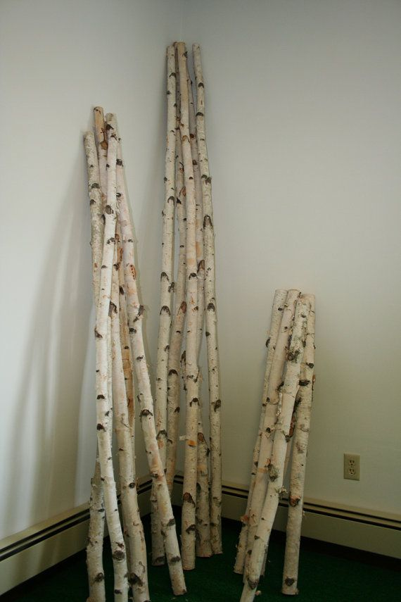 White Birch Poles Birch Tree Decor Glam Christmas Decor White