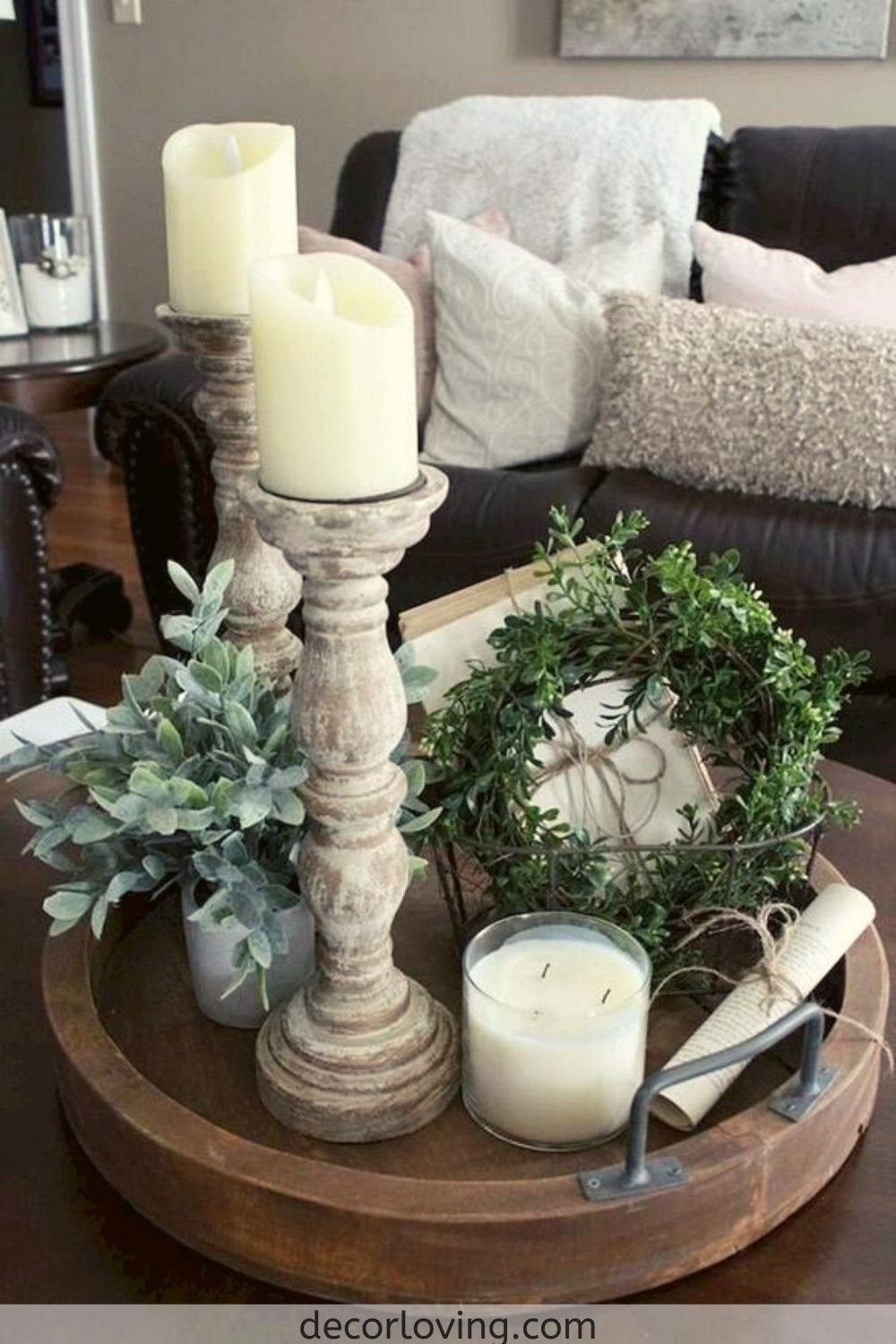 21 Fantastic Farmhouse Living Room Decor Ideas On A Budget You Must Try In 2020 Table Decor Living Room Farm House Living Room Farmhouse Candlesticks
