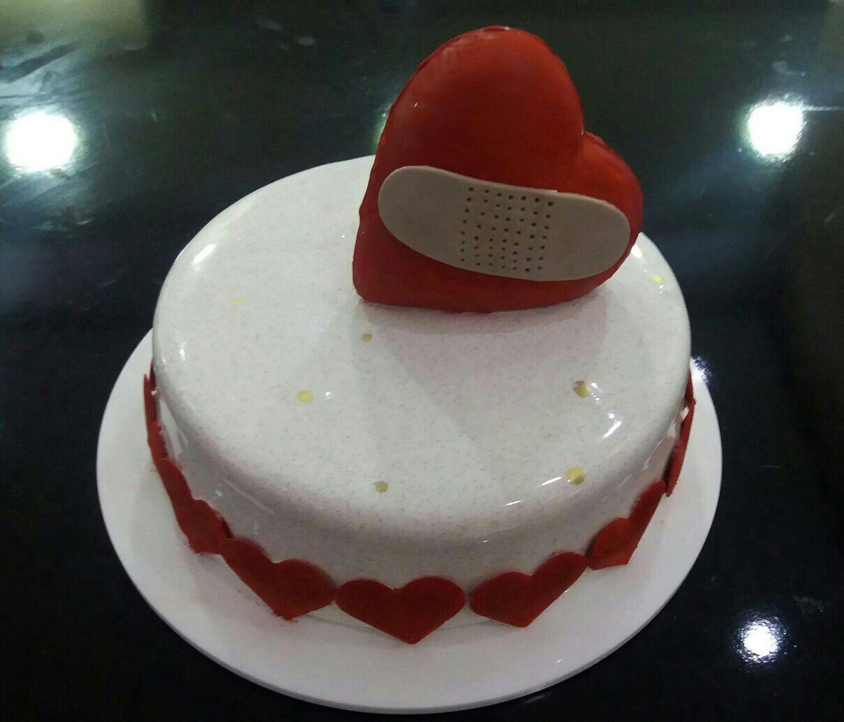 #glaçagem #glaze #coraçao #red #vermelha #heart #sejafoda #branca   #white #feliperochadecorcakee