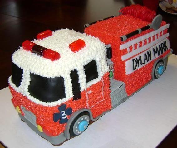 pinterest fire truck cake | firetruck birthday cakes | Fire Truck