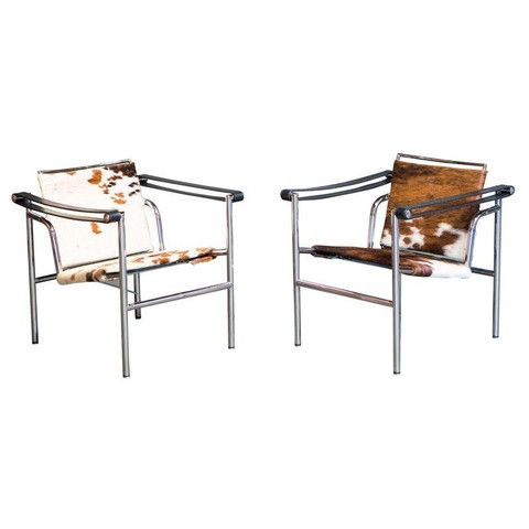 dwr cowhide lc1 sling chairs a pair for the home pinterest
