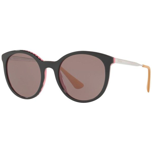 04f24e5ff448 Prada Sunglasses (300 PAB) ❤ liked on Polyvore featuring accessories
