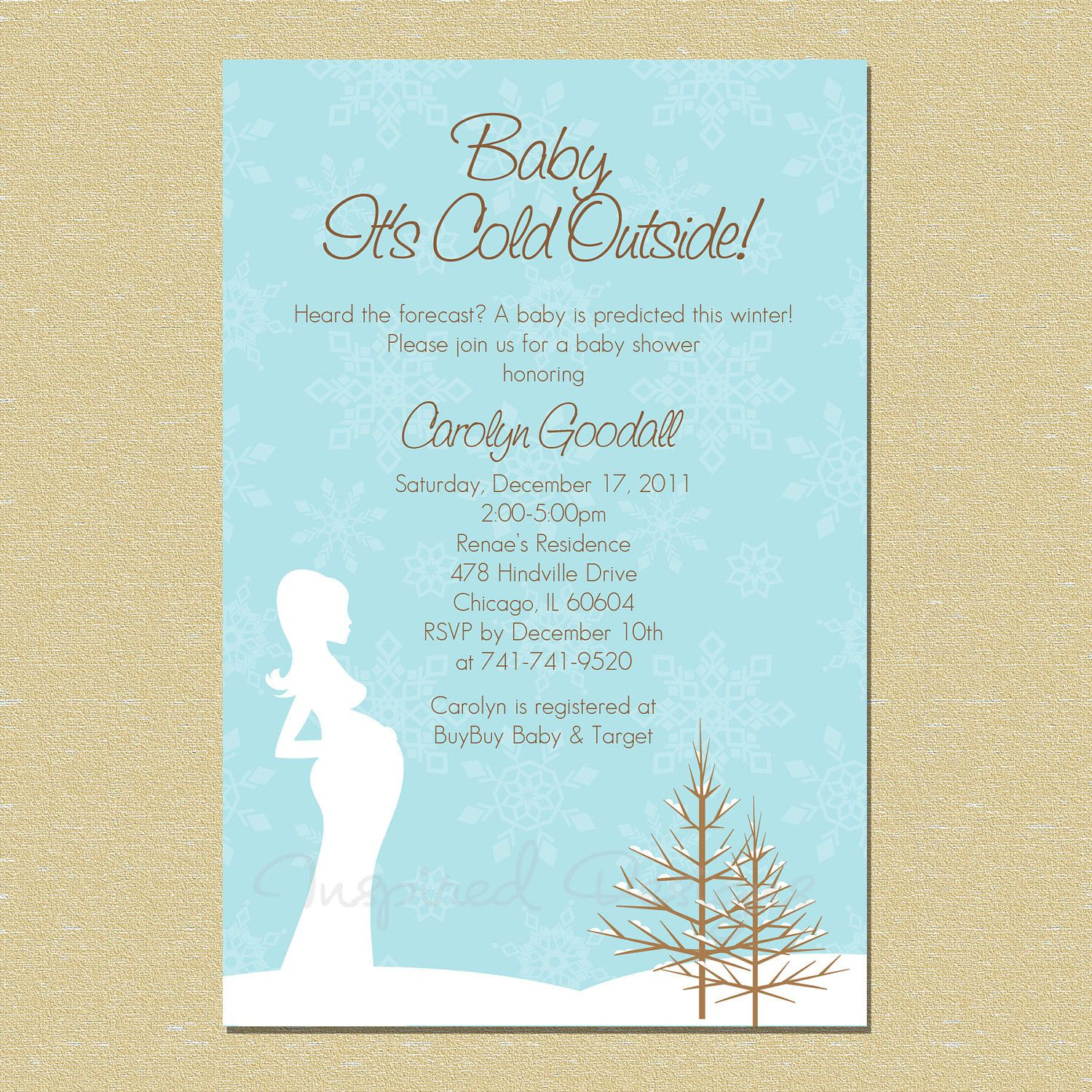 Baby It\'s Cold Outside...Winter Wonderland Baby Shower Invitation ...