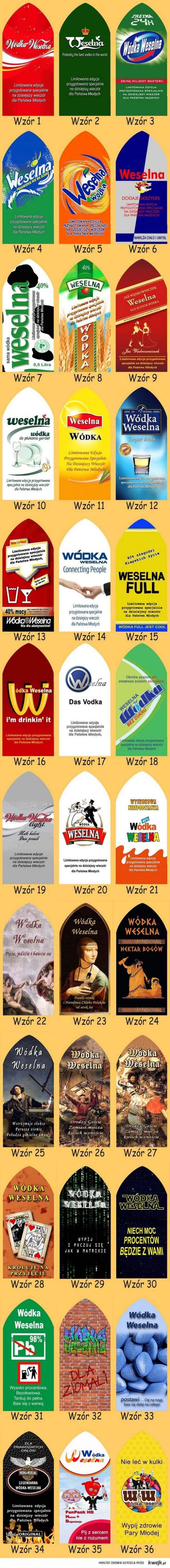 Smieszne Naklejki Na Wodke Weselna With Images Wodka Pomysly