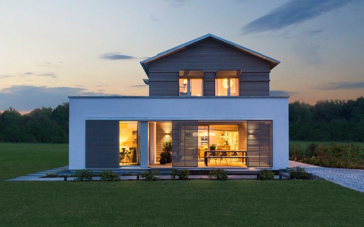 Holzhaus Architektur moderne holzhaus architektur mit satteldach ökohaus naturdesign