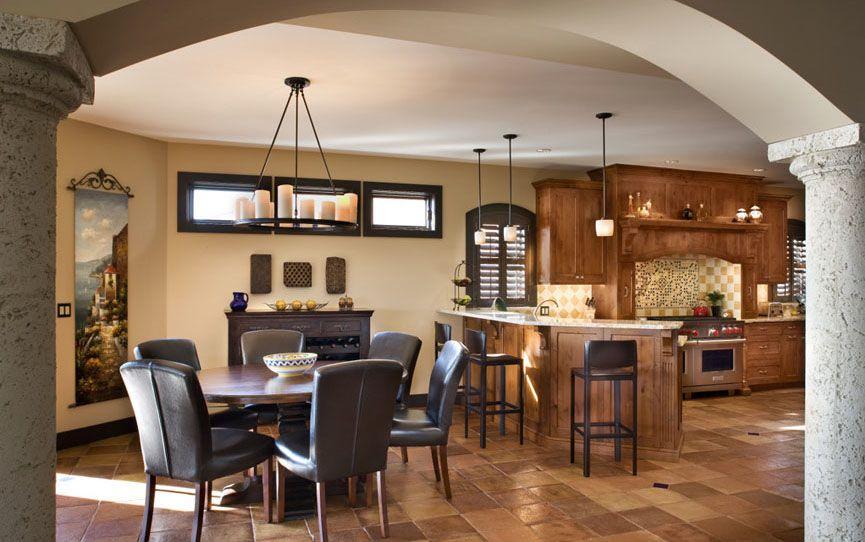 Mediterranean Style Home With Rustic Elegance Interior Design