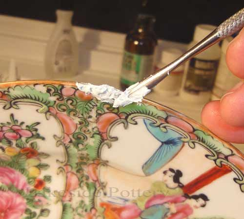 How To Repair And Restore Ceramic Porcelain China Or Pottery Fixing Broken Plate Demo Ceramics Ceramic Pottery Pottery