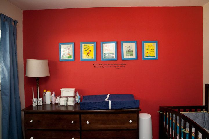 Dr Seuss Themed Nursery   Love The Idea Of Framing Book Covers For A Fun  Wall
