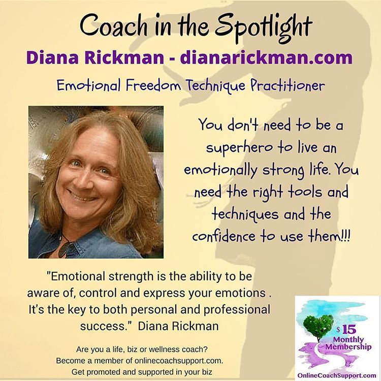 "Online Coach Support on Instagram: ""Talk to Diana!!! What's bothering you? What do you want to achieve or change? In 30 minutes you could watch a handful of crazy cat videos on YouTube or you could learn how the Emotional Freedom Technique can help you change your life! And even if you decide coaching isn't for you right now, you'll definitely discover how good you can feel with EFT. Head on over to Diana's website at http://www.dianarickman.com/ #OnlineCoachSupport"