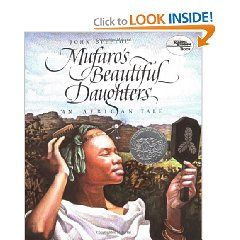 John Steptoe's Mufaro's Beautiful Daughters is a wonderful African version of the Cinderella story, but it is his stunning illustrations that really take the book to the next level.  The Zimbabwe region is brought to life in beautiful detail, and I highly recommend the book for children with an interest in Africa, or to anyone who simply enjoys a great fairy tale!