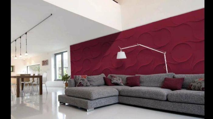 wohnzimmer einrichten wohnzimmer wandgestaltung wandpaneele 3d