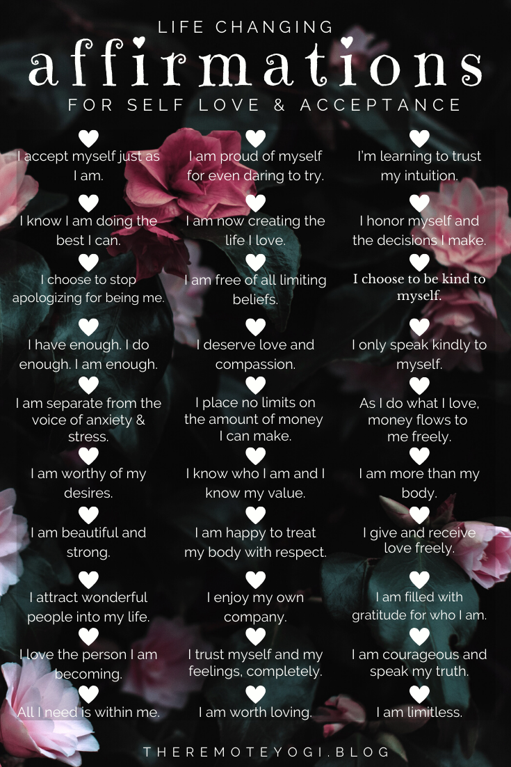 50+ Life Changing Self Love Affirmations