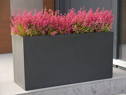 Pflanztrog Der Bundesgartenschau L100x B40x H50cm Aus Fiberglas In Schwarz Anthrazit Pflanzkubel Blumenkubel Gross Pflanzen Pflanzkubel Pflanzideen
