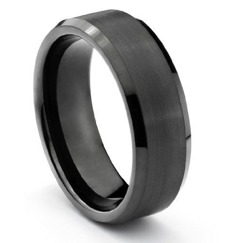 8mm Tungsten Carbide Brushed Black Mens Wedding Band Ring Available Sizes 7 14 I Rings Mens Wedding Bands Mens Wedding Bands Black Mens Wedding Rings Tungsten