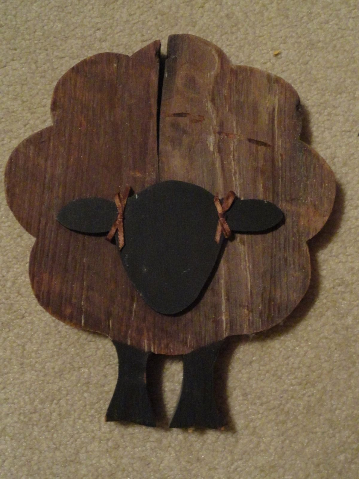 Primitive fall wood crafts - Primitive Sheep Made Of Barn Wood Ebay