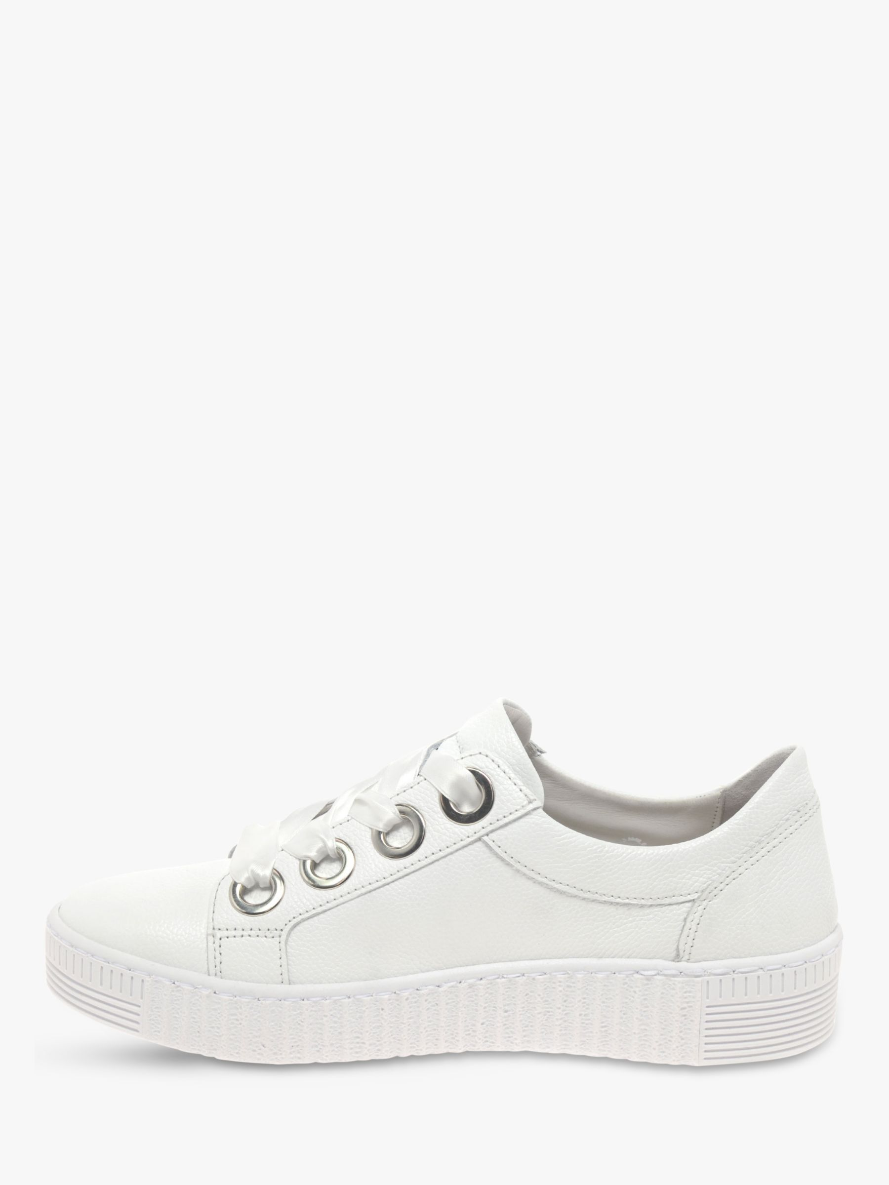 Gabor Wright Low Top Trainers, White