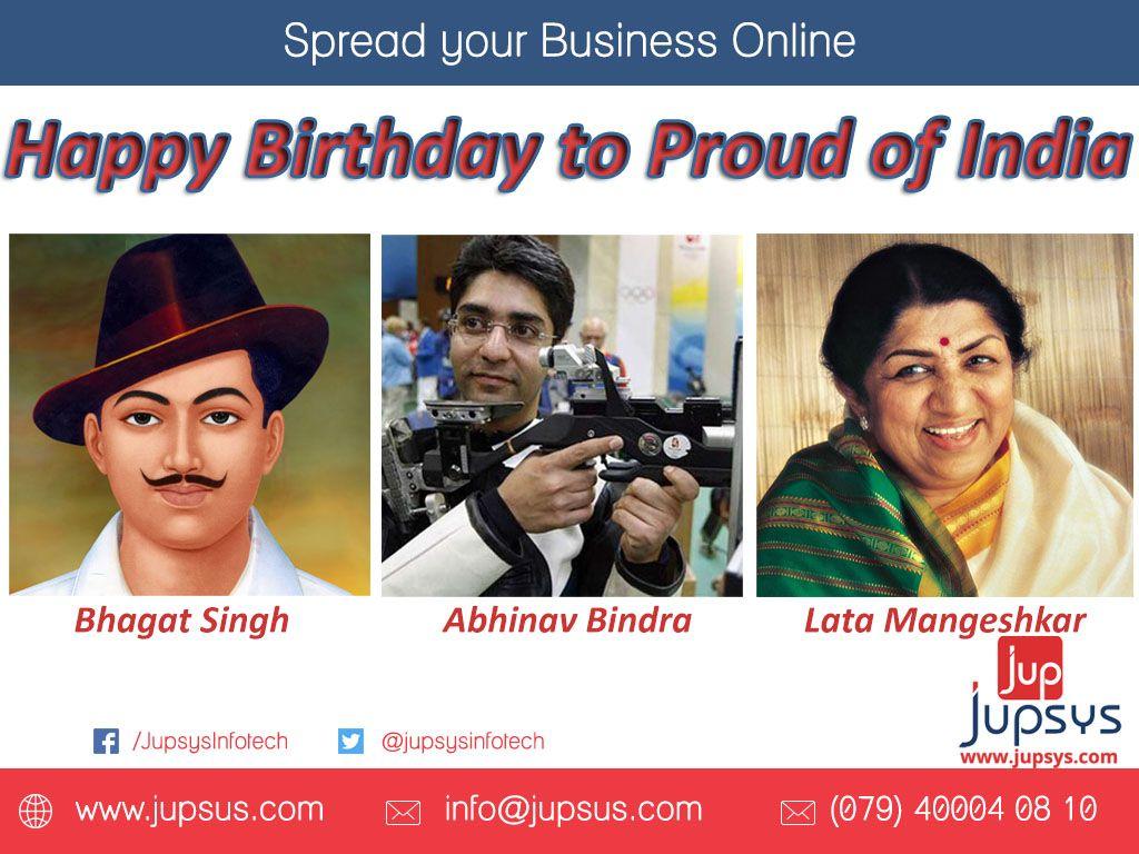 happybirthday to bhagatsingh abhinavbindra