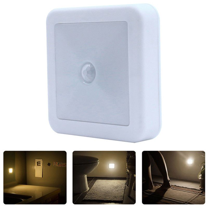 3 21 Led Wireless Pir Motion Sensor Night Light Cabinet Stair Lamp Battery Operated Ebay Home Garden
