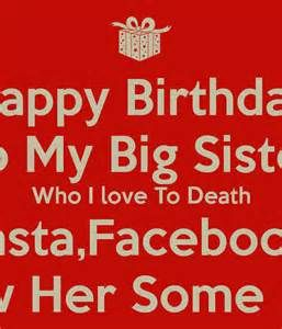 Remarkable Big Sister Birthday Quotes Funny Bing Images Sister Birthday Personalised Birthday Cards Paralily Jamesorg
