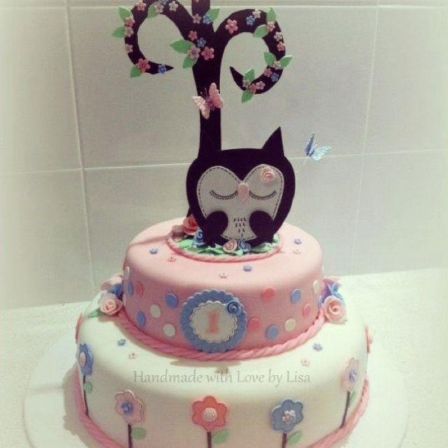 The owl cake Birthday cake ideas Pinterest Owl cakes Birthday