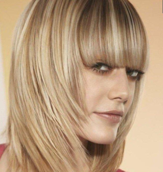 Braune strähnchen auf blond