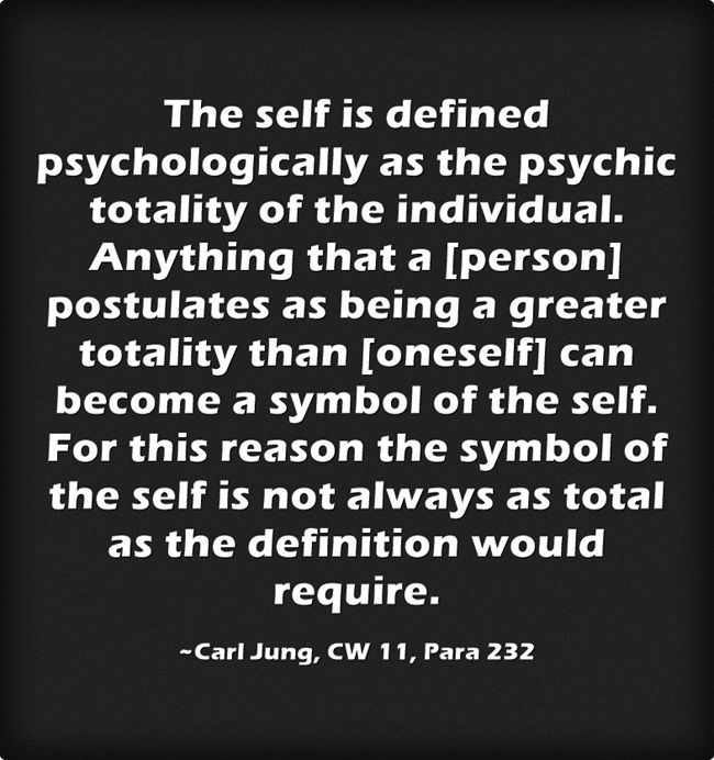 The Self Is Defined Psychologically As The Psychic Totality Of The