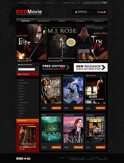 movies music oscommerce templates by sawyer dvd store oscommerce