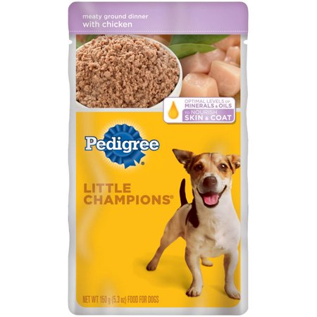 11 Pack Pedigree Little Champions Meaty Ground Dinner With
