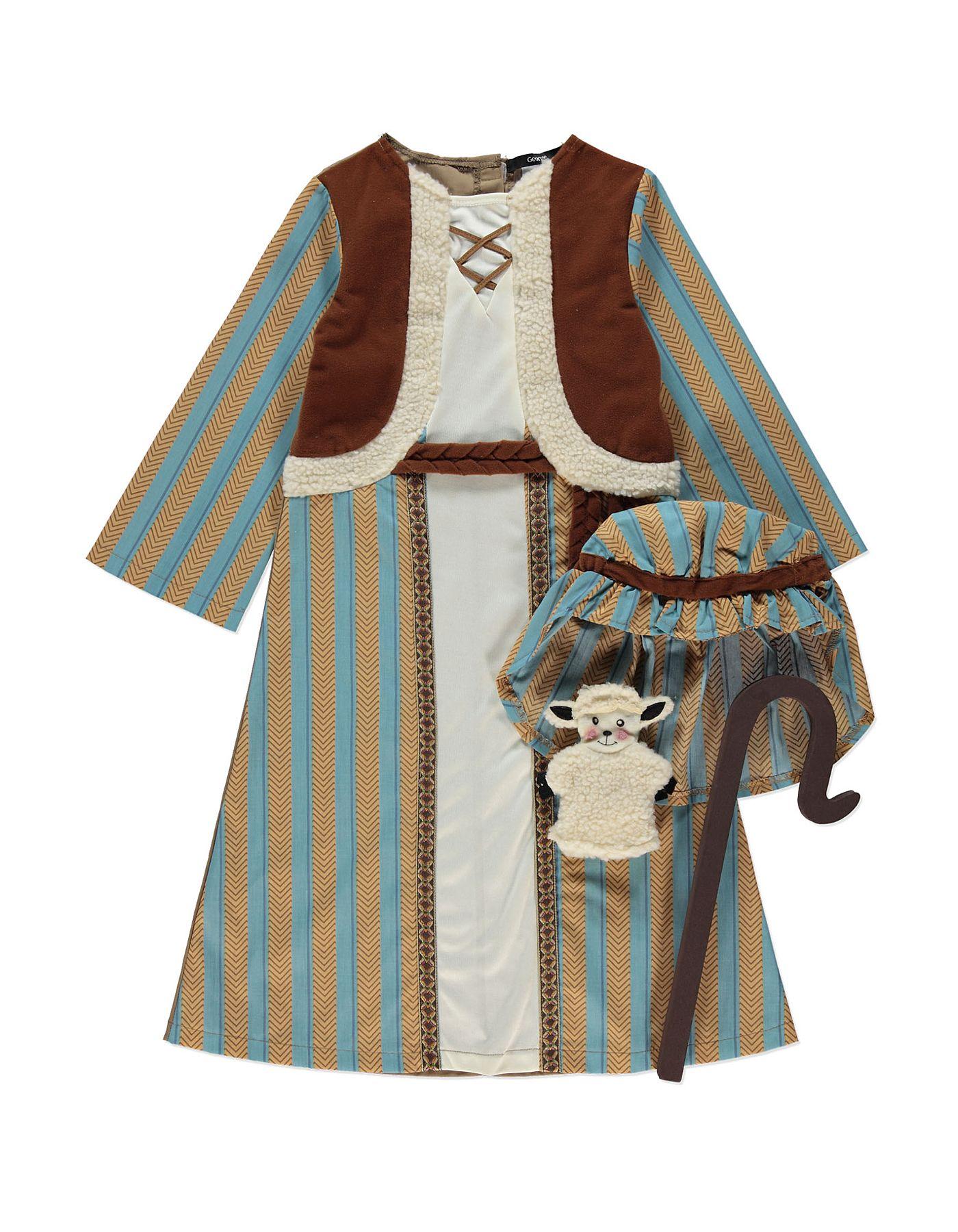 Nativity Shepherd Fancy Dress Costume Boys George At Asda Fantasias Roupas De Epoca Roupas