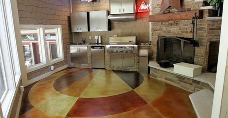 Mullti Colored, Circular Commercial Floors Max Power Concrete Columbus, OH