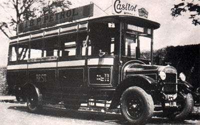 Early passenger bus form Bombay (India)