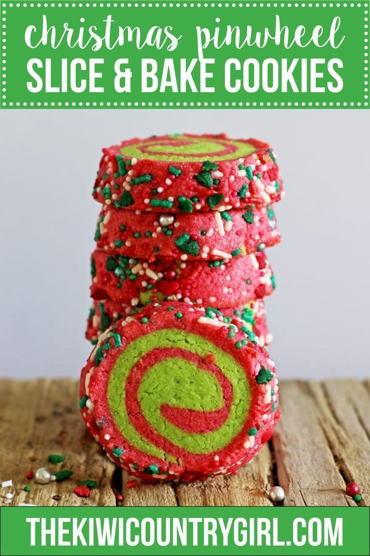 1 Basic Dough - 4 Slice and Bake Christmas Cookie Recipes! #sliceandbakecookies ...-   1 Basic Dough – 4 Slice and Bake Christmas Cookie Recipes! #sliceandbakecookies Super easy slice and bake cookies perfect for Christmas! This easy recipe for red and green Christmas pinwheel cookies can be made months in advance and frozen, ready to defrost, slice and bake. The perfect cookie to leave out for Santa, the best kind of cookies to make with kids and so delicious! Click for the recipe and 3 other #sliceandbakecookieschristmas
