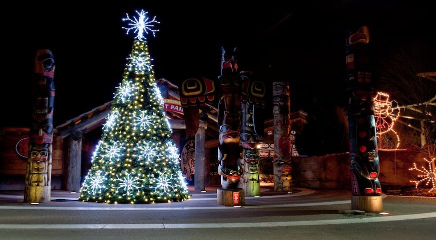 Christmas tree with totem poles....who knew?