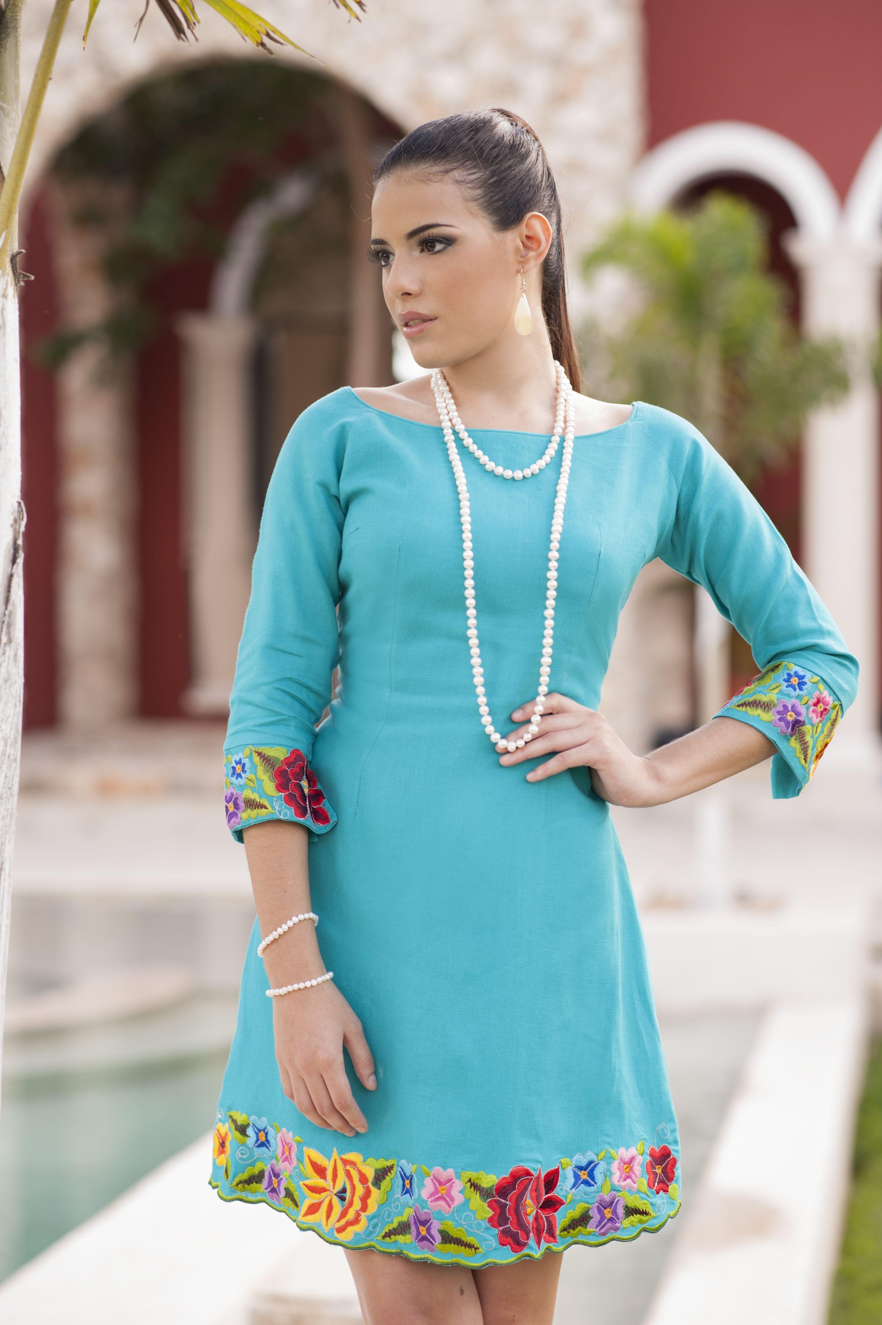 c15c2de721 Vestido corto de lino
