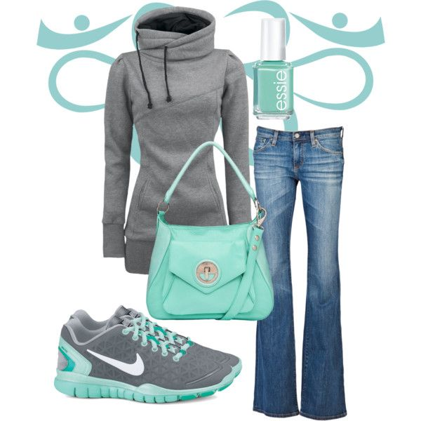 """""""Relax - Turquoise and Grey"""" by nurseratched on Polyvore"""