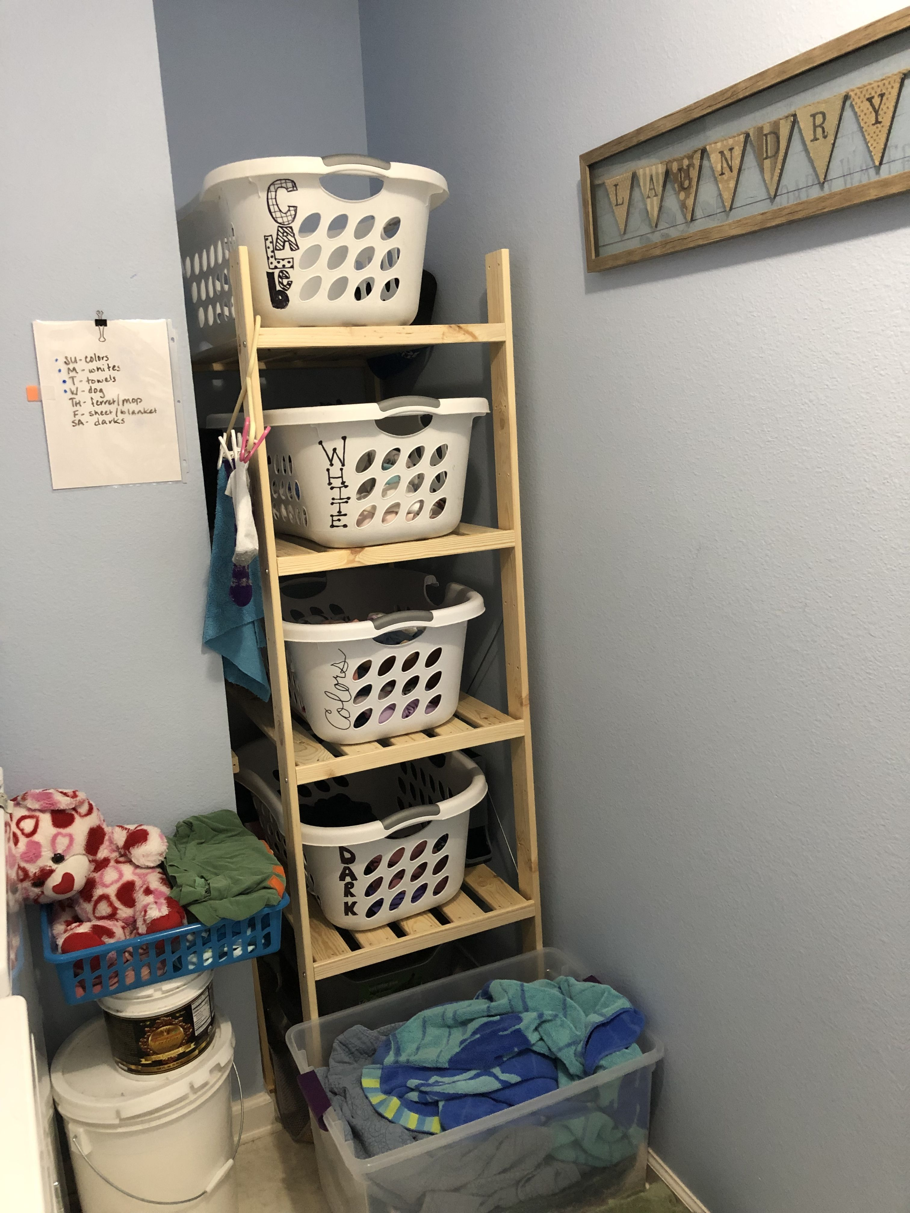 One Step Closer To My Small Organized Laundry Room Ikea Hejne