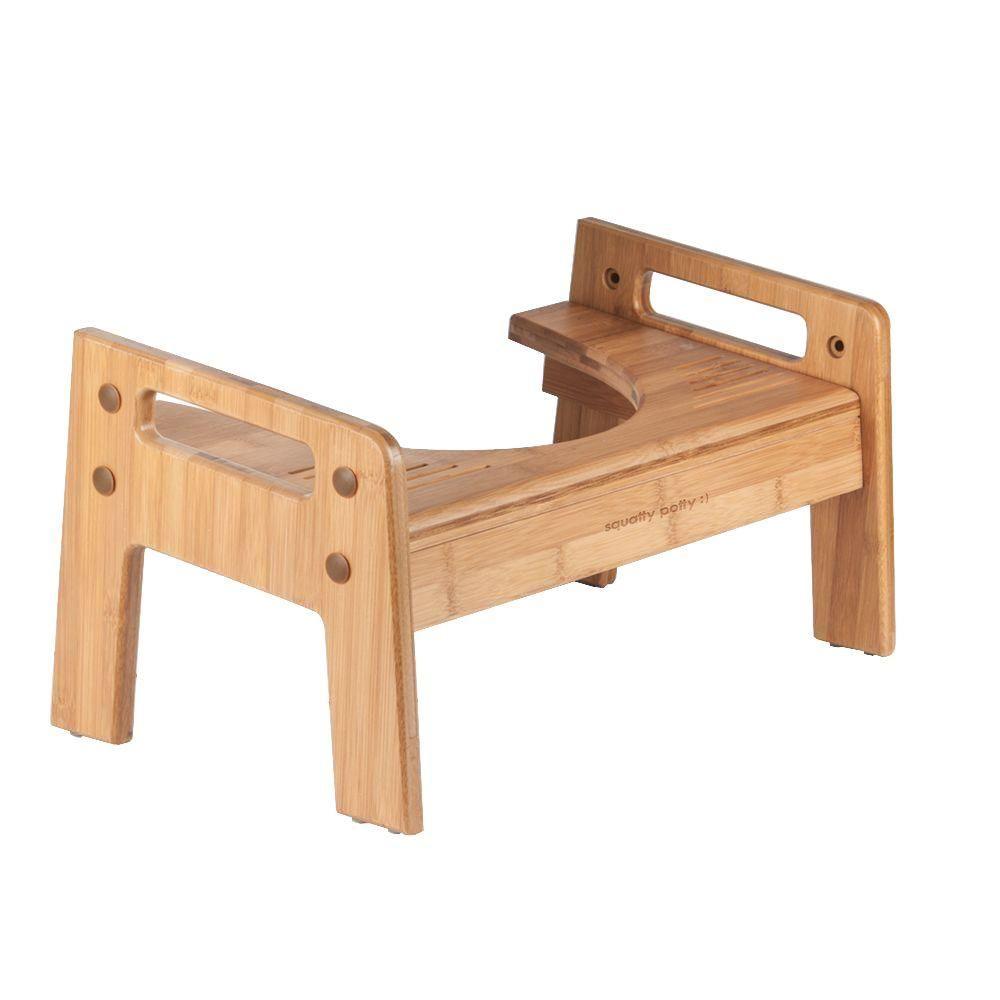 Squatty Potty Tao Bamboo Adjustable Wood Toilet Stool Toilet