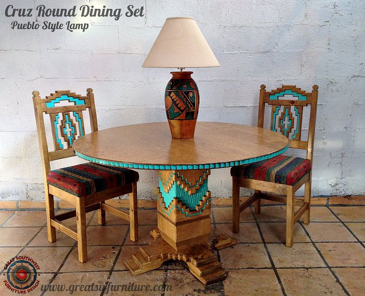 southwest dining chairs wicker desk and chair sw painted furniture custom southwestern lamps wall decor upholstery fabrics