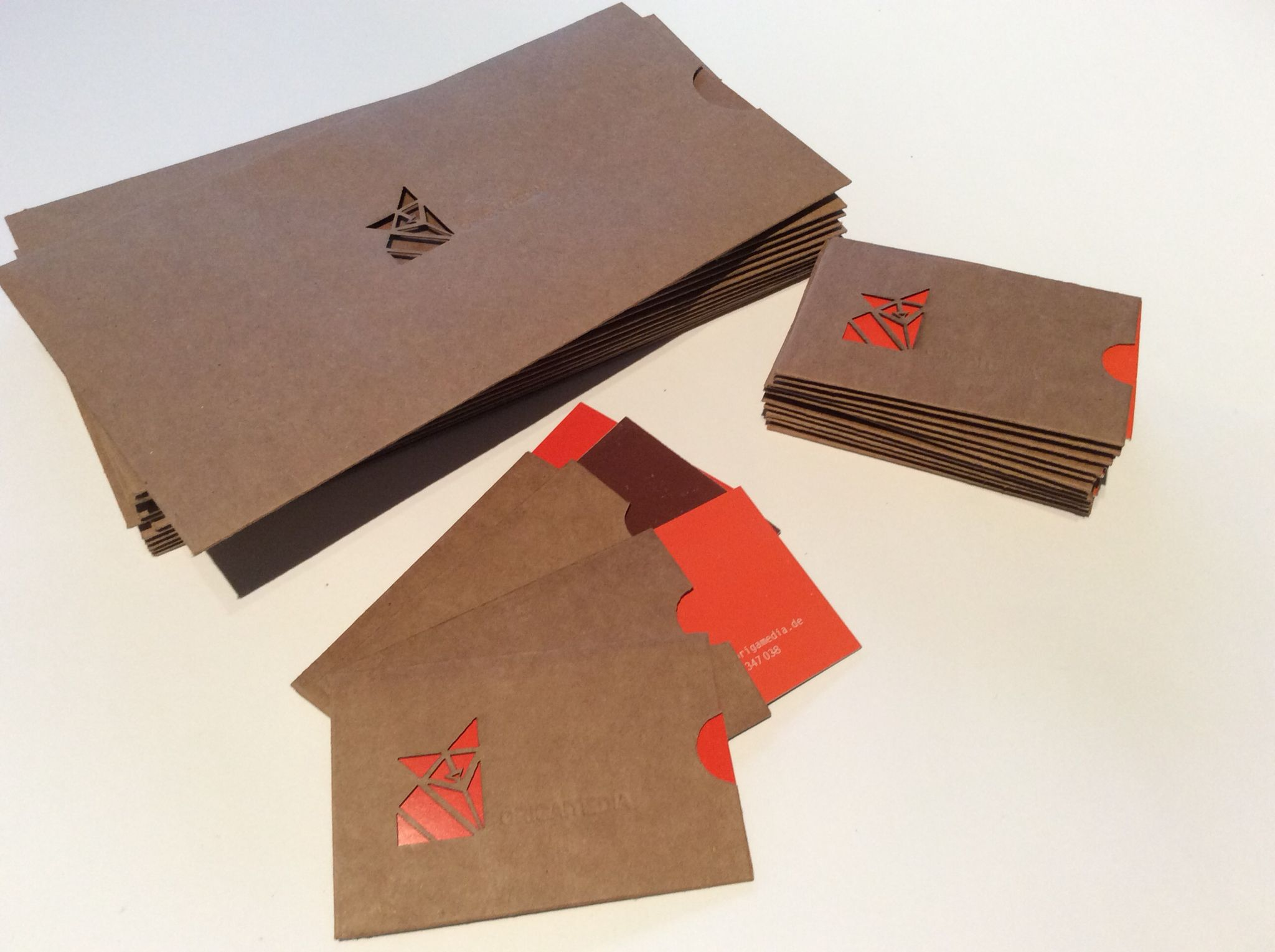 Umschlag Für Visitenkarten Und Folder Flyer Aus Nachhaltigen