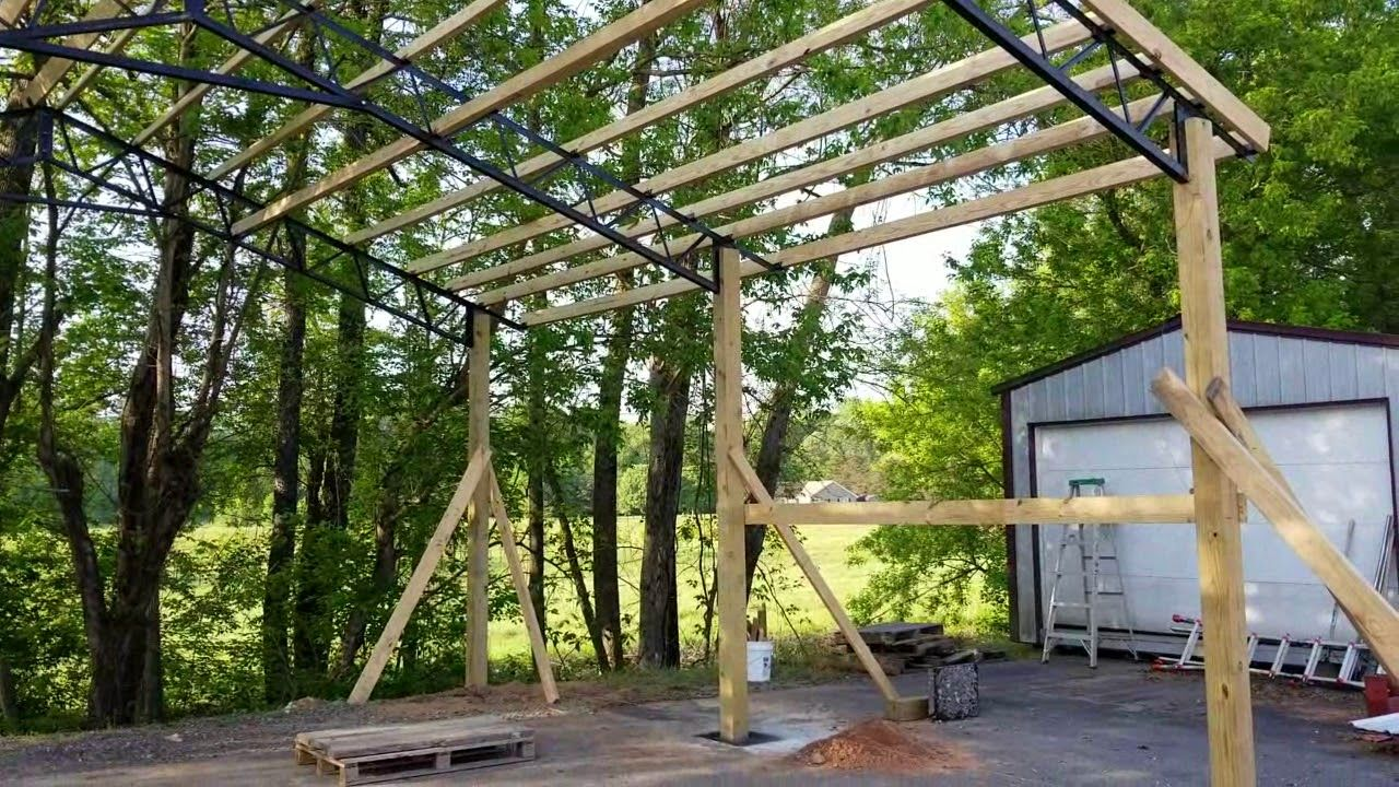 STEEL TRUSSES Standard Size Carports and Pole Barn Kits