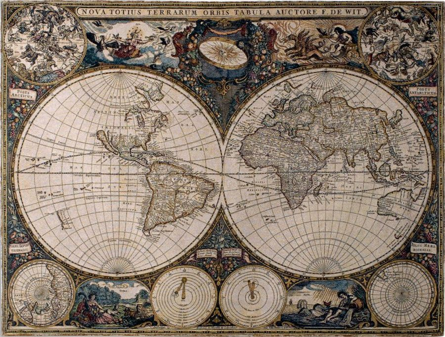 Antique World Map Tapestry.Old World Map Tapestry Beige Lyster Mood Board In 2018