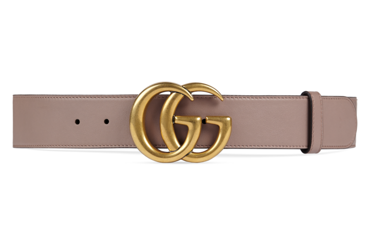 2c01ce237ed Shop the Leather belt with Double G buckle by Gucci. A leather belt with Double  G buckle.
