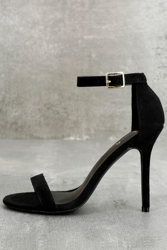 strap black heel