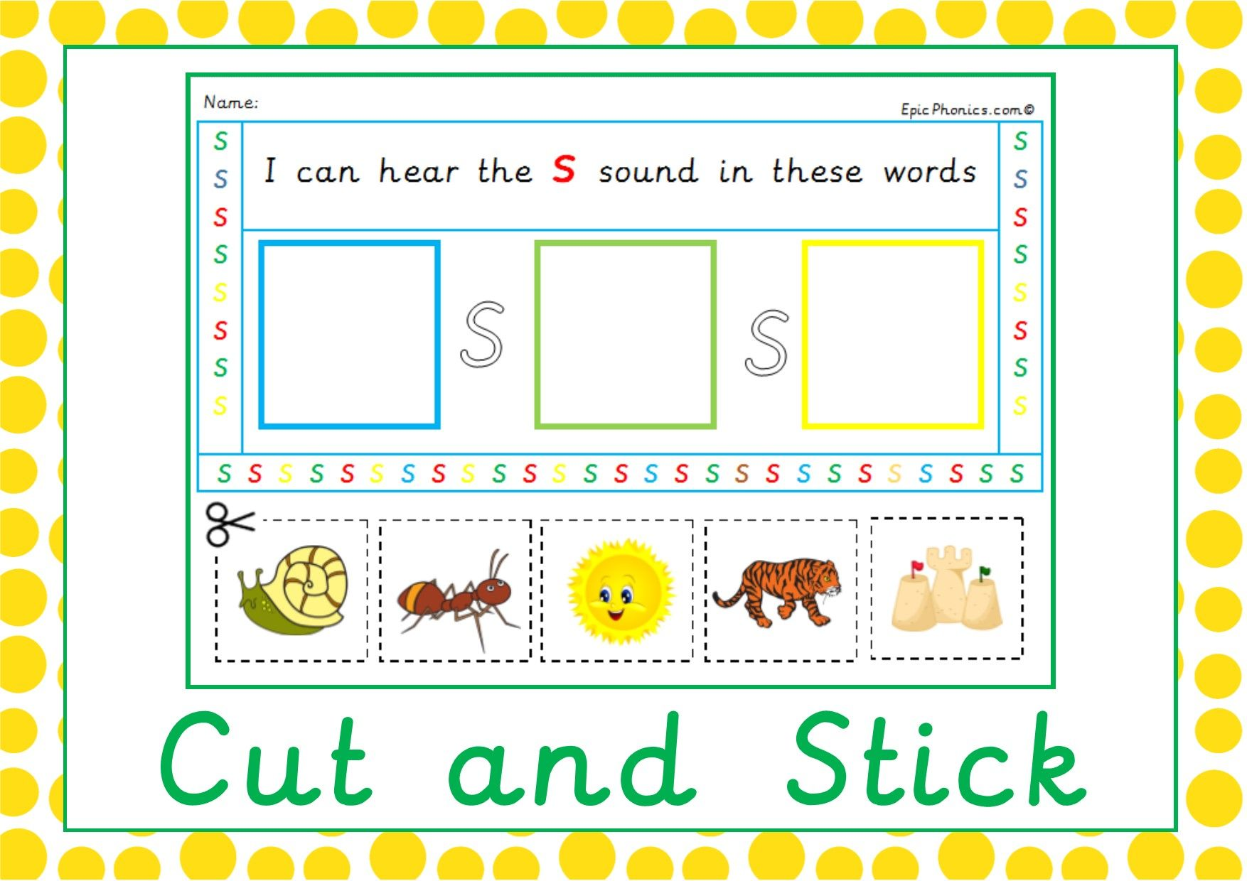 Beginning Sounds Activity Sheet On Epicphonics Phase 2