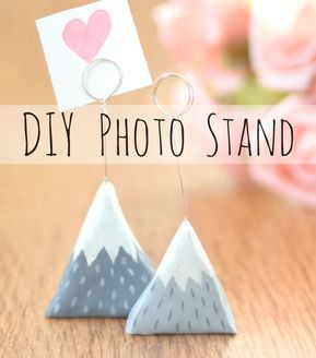 Clay Mountain Photo Holder — Doodle and Stitch – DIY